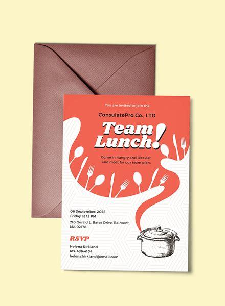 Free Lunch Invitation Template In Illustrator Template Net Lunch Invitation Templates Free