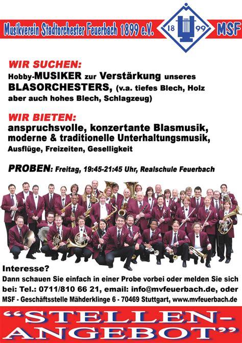Musiker Gesucht by Musikverein Stadtorchester Feuerbach 1899 E V