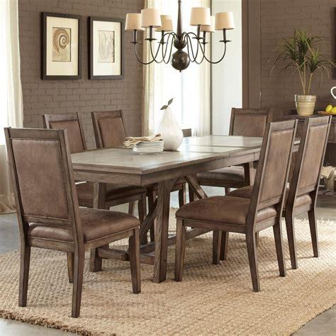Trestle Dining Table Sets Liberty Furniture Brook 466 Dr 7trs Casual 7 Trestle Table Set Hudson S Furniture