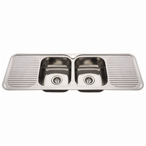 double drainer kitchen sinks everhard 1380mm nugleam double bowl kitchen sink with