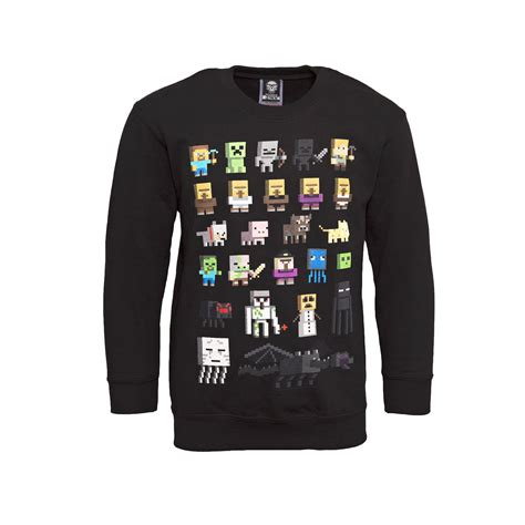 minecraft sweater mine craft jumper official sprites characters ebay