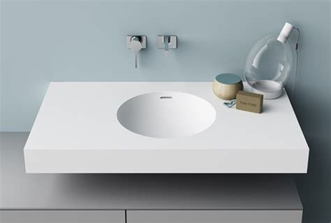 lavandini in corian lavabo tondo in corian top bagno con lavabo integrato ibis