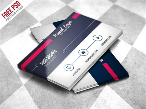 freebie modern business card design template free psd by
