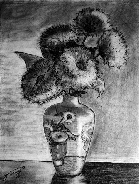 Van Gogh Flowers In Vase Still Life Van Gogh Ornamented Vase With 5 Teddy Bear