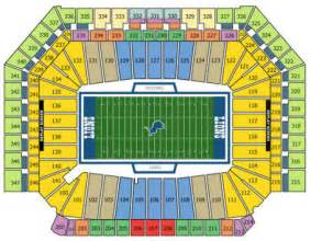 Ford Field Seat Map Nfl Football Stadiums Detroit Lions Stadium Ford Field
