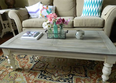 my 15 thrift store pine coffee table chalk painted and