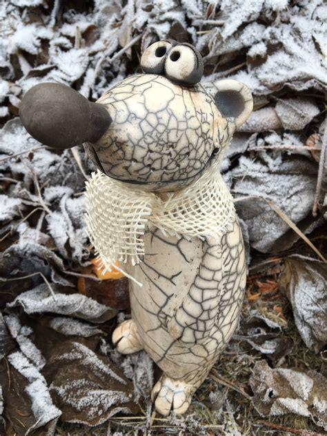 Tonfiguren F R Den Garten 2213 by Pin Sylvia Weikert Auf Keramik Tiere