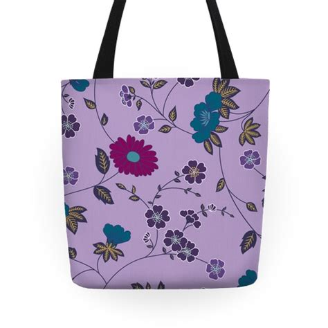 tote bag floral pattern pretty floral pattern tote purple tote bag human