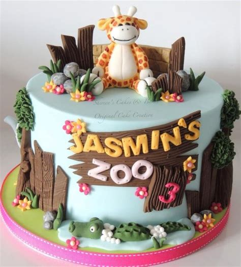 zoo themed birthday cake ideas toys birthdays and 3rd birthday on pinterest
