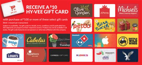 Hy Vee Gift Card Special - hy vee gift card promotion get 10 card with 100 purchase of mastercard lowe s and