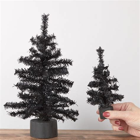 black artificial canadian pine tree set trees and