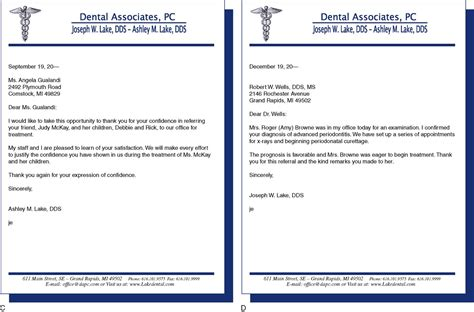 Patient Referral Letter 9 Written Communications Pocket Dentistry