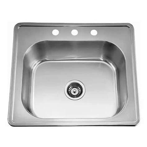sinks top mount 20 single bowl kitchen sink