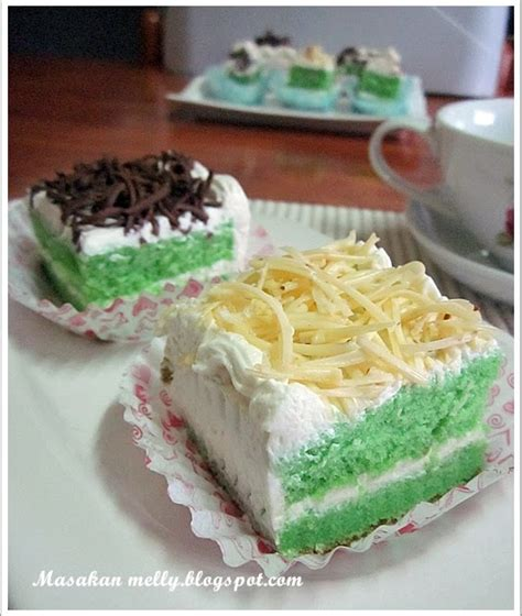 Cake Topping Keju Dan Seres Masakan Melly Bolu Hongkong Pandan Topping Keju Dan Coklat