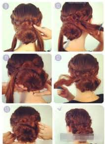 braids updo for hairstep by step the dignified simple updo hairstyle tutorial fashion home