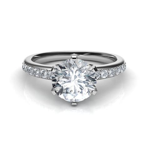 solstice six prong engagement ring