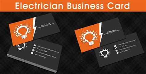 electrician business card template business card