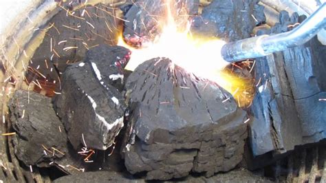 torch to light charcoal how to light lump charcoal with a torch youtube