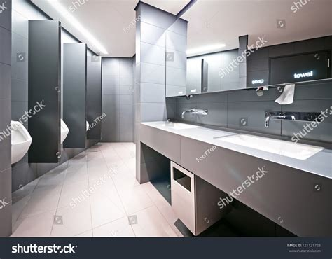 modern restrooms modern restroom stock photo 121121728