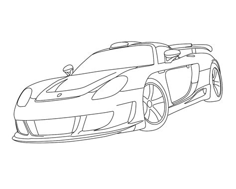 Free Coloring Pages Of Porsche Gt Coloring Pages