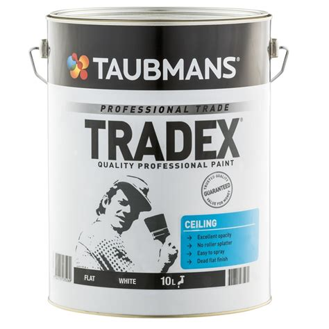 Taubmans Ceiling Paint by Taubmans Tradex 10l White Flat Interior Ceiling Paint