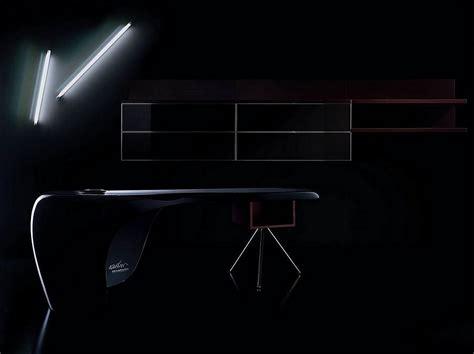 furtif desk is a striking futuristic piece of furniture uno desk by karim rashid for della rovere design is this