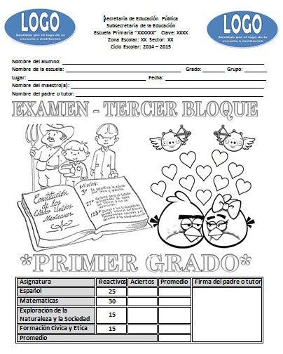 examenes bloque iii 2014 2015 todos los grados examenes gratis del tercer bloque del segungo grado 2014