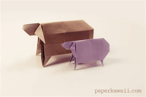 Sheep Origami - origami sheep for new year paper kawaii