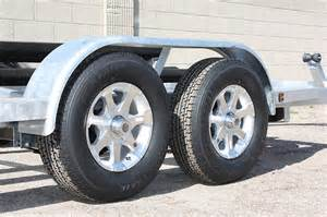 Truck Wheels On Trailer 15 Inch Series 6 Aluminum Trailer Wheels 5 Lug