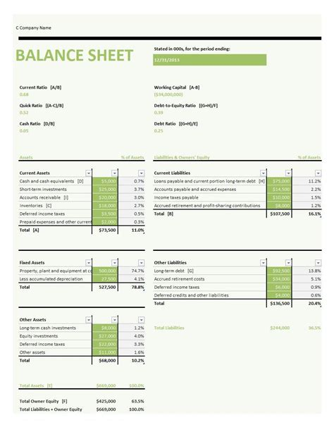 accounting balance sheet excel template1 accounting spreadsheet