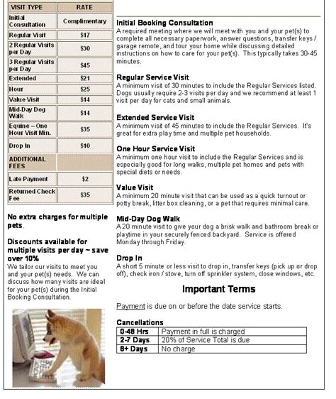 Going Rate For House Sitting With Pets by Prefurred Pet Sitters Services And Rates