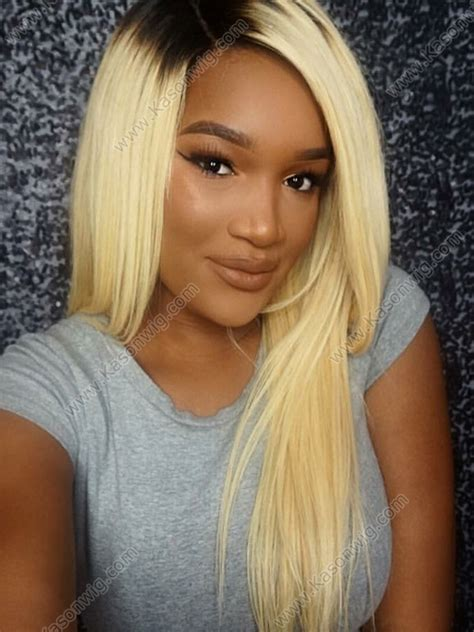 hair 613 for black woman ombre 1b blonde human hair full lace wig one doner