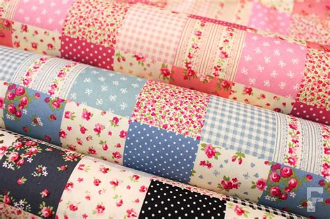 Patchwork Print Fabric - 100 cotton poplin print fabric patchwork design ebay
