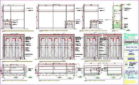 Home Library Interior Design by Wardrobe Detail And Section Dwg Files