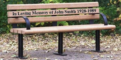 park bench memorial recycled plastic memorial park bench occ outdoors