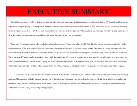 Hulu Mba Roles by Netflix Study Executive Summary