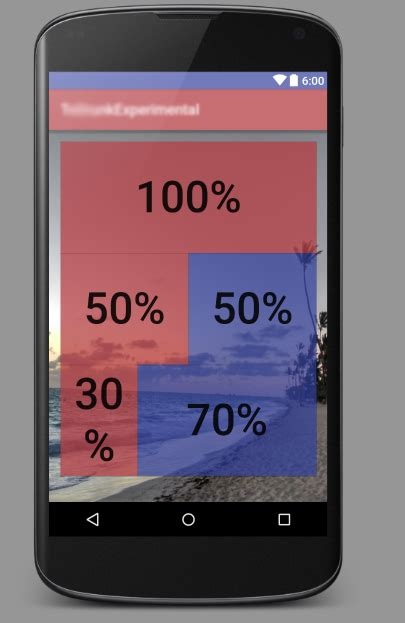 android layout width 50 percentage of parent android percentage width in a relativelayout stack