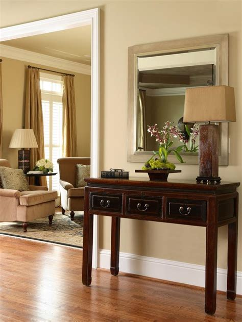 Table For Entryway Classic Entryway With Traditional Table And Mirror Hgtv