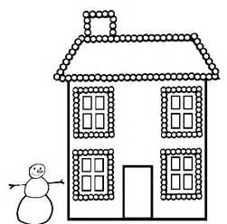 printable christmas house coloring coloringpagebook