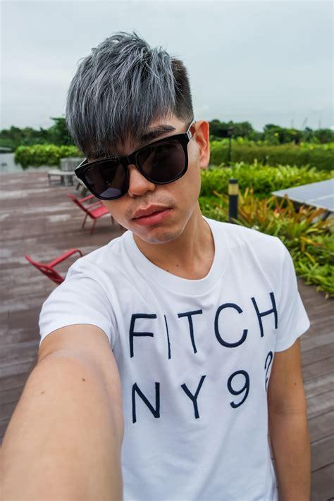 ash blue hair color and cut for men denimhair numinous cool ash grey hair color from 99 percent hair studio