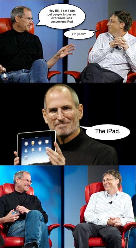 Steve Jobs And Bill Gates Meme - steve jobs vs bill gates comic meme collection 1mut com