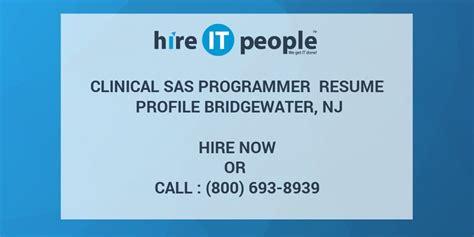clinical sas programmer resume profile bridgewater nj
