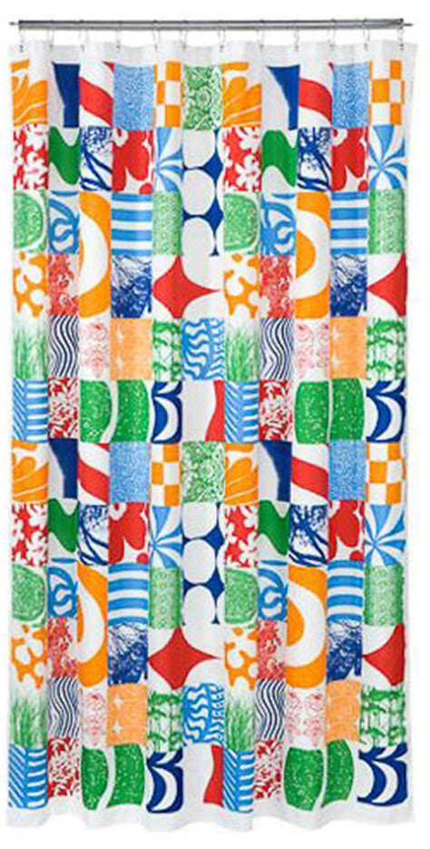 Marimekko Curtain Fabric Ideas Marimekko Curtain Fabric Ideas Marimekko Unikko Shower Curtain From Heal S Bathroom Shower