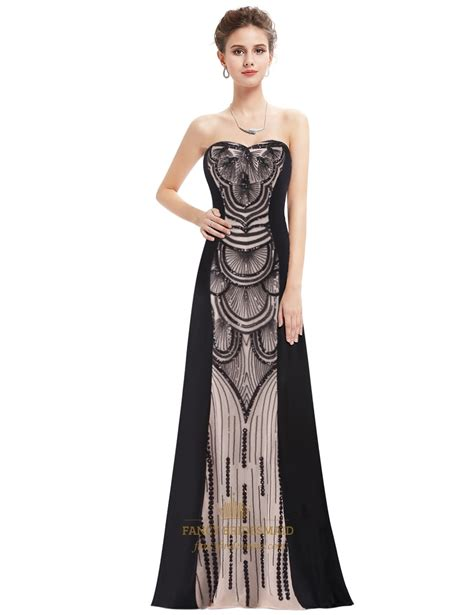 Strapless Floor Length Dress by Strapless Sweetheart Sequin Embellished Floor Length Evening Dress Fancy Bridesmaid Dresses
