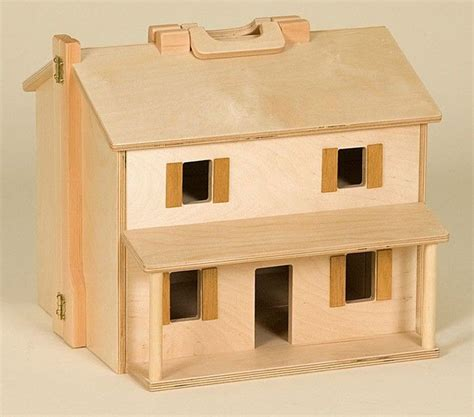 folding doll house amish made wooden toy folding doll house and furniture