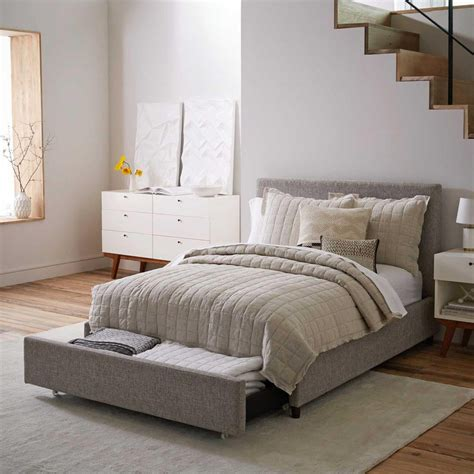 Storage Bed Upholstered Headboard by Upholstered Storage Bed Deco Weave West
