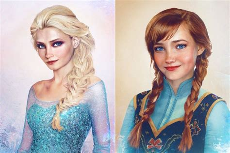 frozen film real life what frozen characters would look like in real life