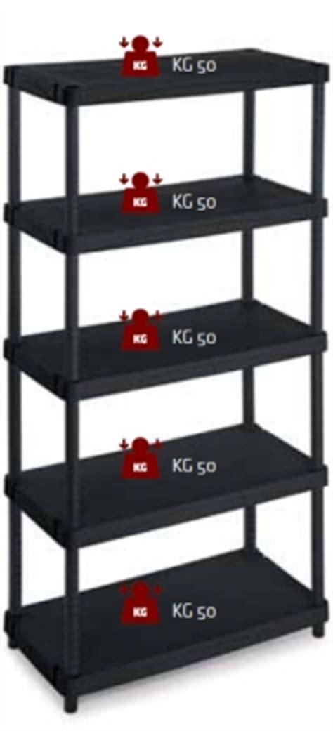 scaffali componibili in plastica scaffale in plastica a 5 ripiani cm 100x50x188 portata kg