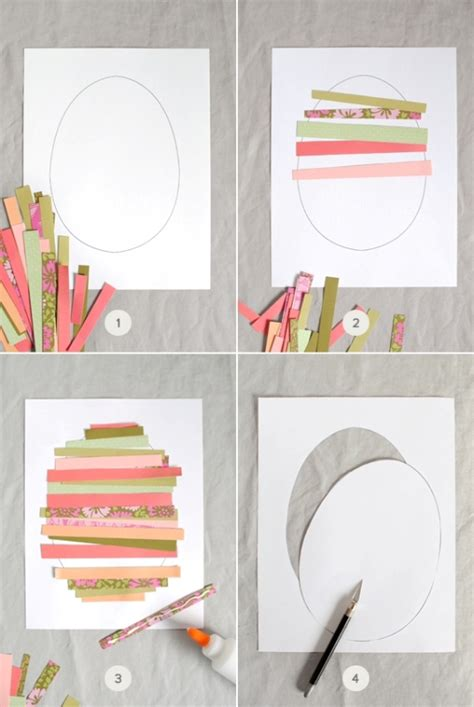 How To Make A Out Of Paper Strips - sweet diy paper easter egg to make with your kid