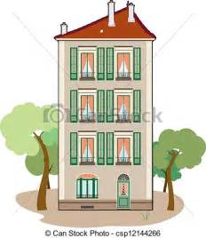 Two Storey Floor Plan clip art vecteur de b 226 timent trois 233 tage r 233 sidentiel
